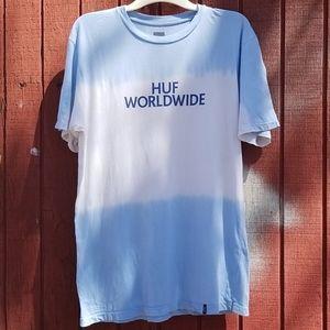Huf Worldwide Blue Ombre Tie Dye Shirt